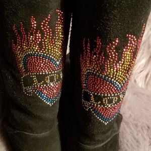 "💥Steve Madden💥Black ""Love"" Sequins Boots"